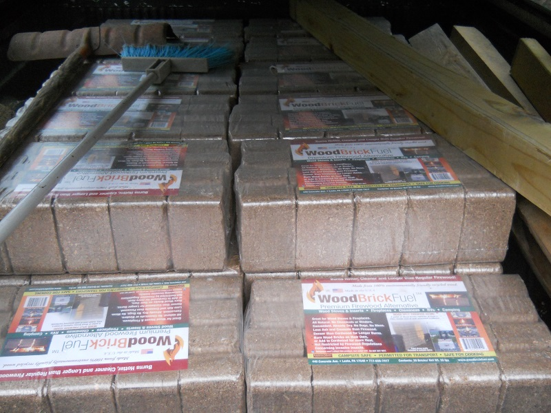 Compressed Wood Bricks ~ Ot wood brick fuel recycled firewood alternative
